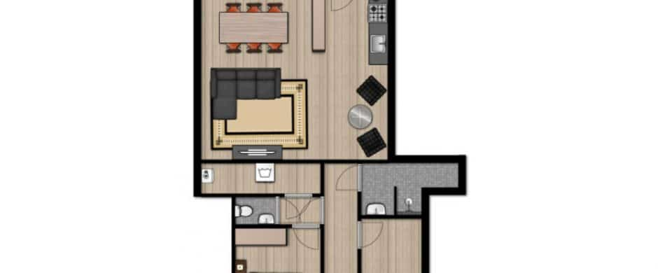 Two Bedroom III Old City Center